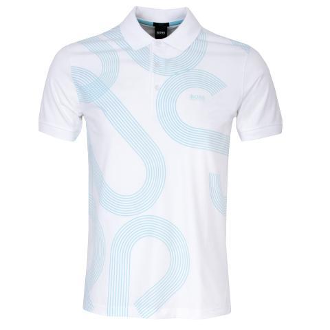 BOSS Paule 6 Polo Shirt White