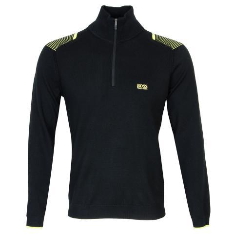 BOSS Zai Pro Zip Neck Sweater