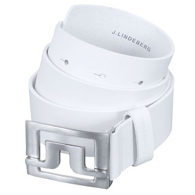 J Lindeberg Slater 40 Leather Belt White