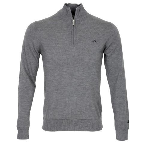 J Lindeberg Kian Tour Merino Sweater Grey Melange