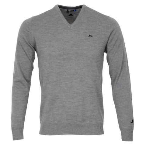 J Lindeberg Lymann Tour Merino Sweater Grey Melange