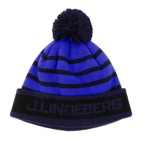 a12a6dfa730 J Lindeberg Stripe Beanie Hat Daz Blue  28.00