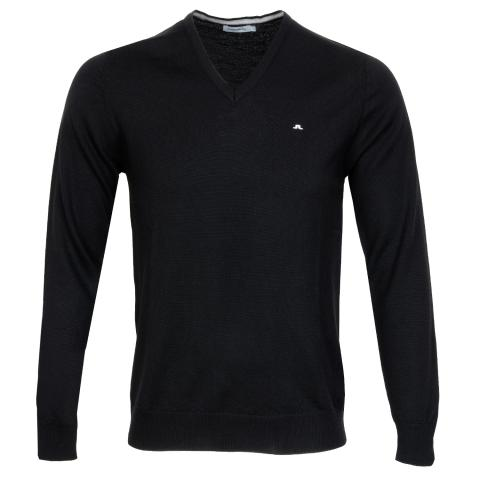 J Lindeberg Lymann True Merino Sweater Black
