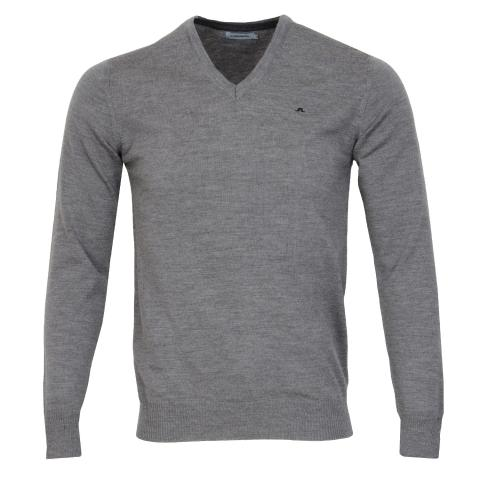 J Lindeberg Lymann True Merino Sweater Grey Melange
