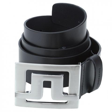 J Lindeberg Slater Pro Leather Belt Black