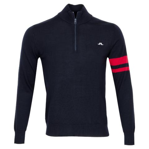 J Lindeberg Abel Zipped Sweater JL Navy