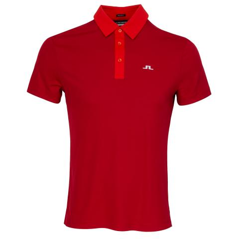 J Lindeberg Adrien Polo Shirt Red Bell
