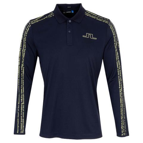 J Lindeberg Alec TX Long Sleeved Polo Shirt JL Navy