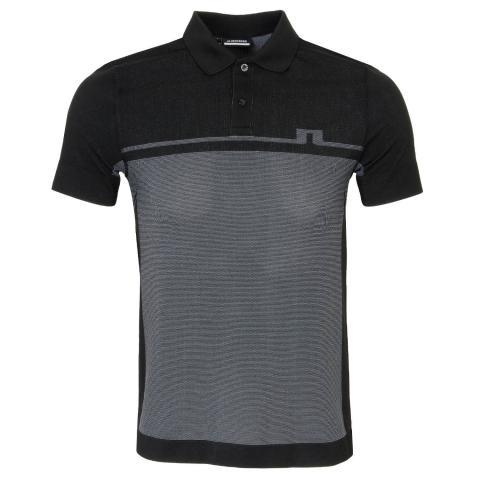 J Lindeberg Alfred Seamless Polo Shirt Black
