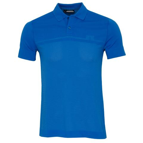 J Lindeberg Alfred Seamless Polo Shirt Egyptian Blue