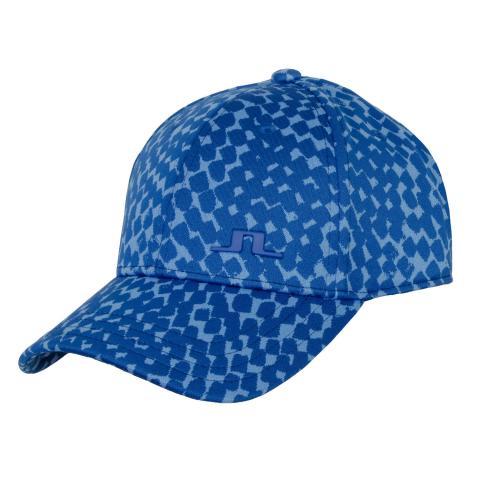 J Lindeberg Angus Jacquard Cap Checker Ocean Blue