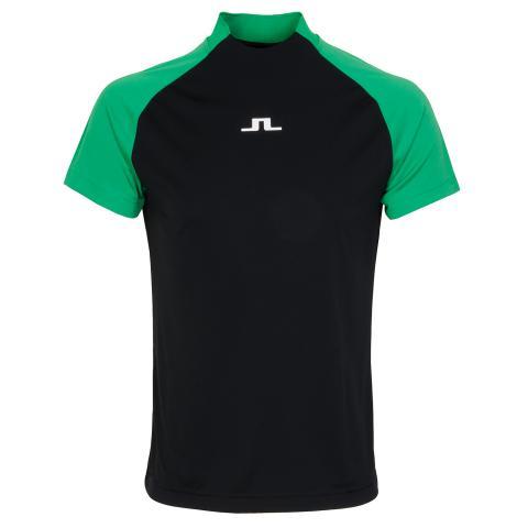 J Lindeberg Benga Mock Neck Shirt Black