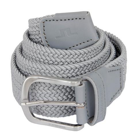 J Lindeberg Bernhard Braided Belt Stone Grey AW20