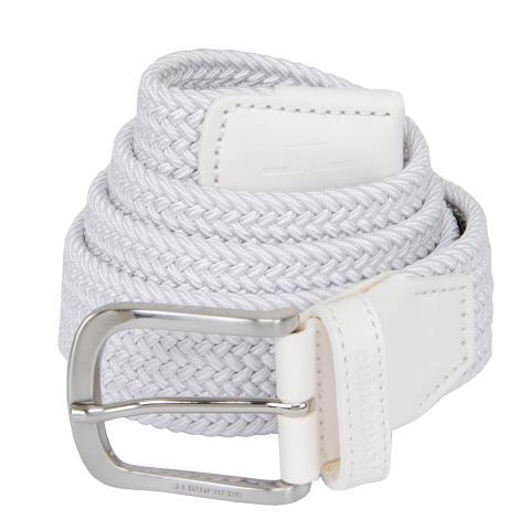 J Lindeberg Bernhard Braided Belt White AW20