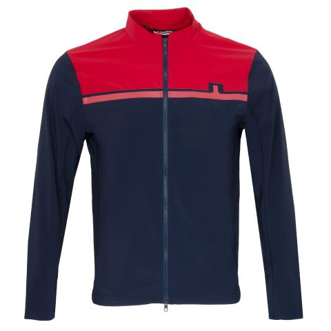 J Lindeberg Blocked Logo Softshell Jacket Red Bell