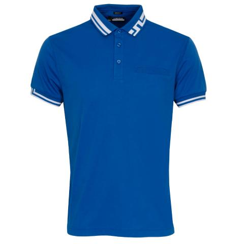 J Lindeberg Bruce Polo Shirt Egyptian Blue
