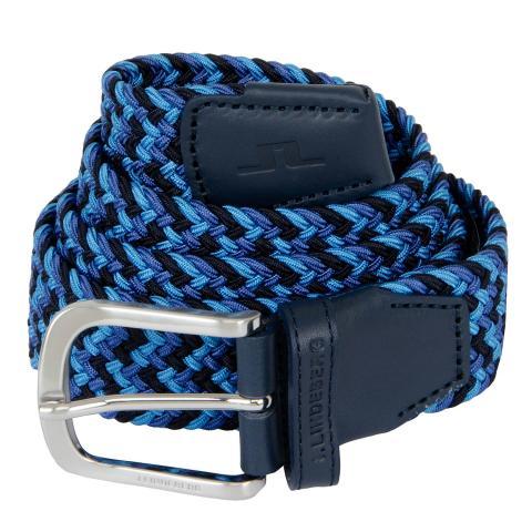 J Lindeberg Bubba Braided Belt Egyptian Blue