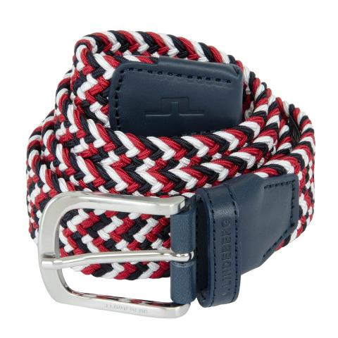 J Lindeberg Bubba Braided Belt Red Bell