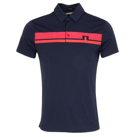 J Lindeberg Clark Polo Shirt Red Bell