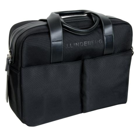 J Lindeberg Laptop Messenger Bag Black