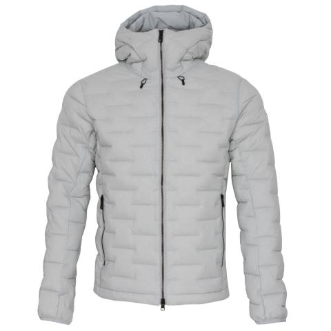 J Lindeberg Ease Hooded Down Jacket Stone Grey