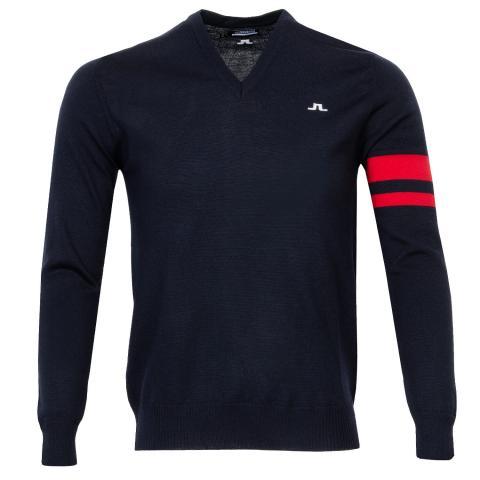 J Lindeberg Eden Sweater JL Navy/Red