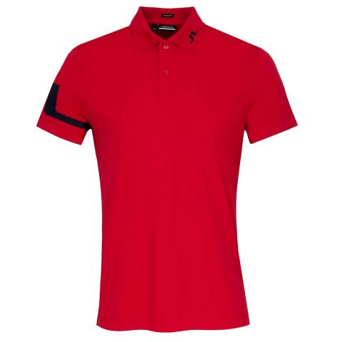 J Lindeberg Heath Polo Shirt Red Bell