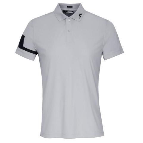 J Lindeberg Heath Polo Shirt Stone Grey Melange