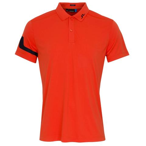 J Lindeberg Heath TX Polo Shirt Tomato Red