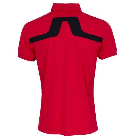J Lindeberg KV Polo Shirt Red Bell