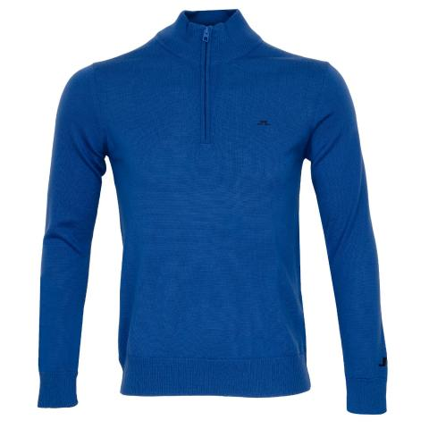 J Lindeberg Kian Zipped Sweater Egyptian Blue