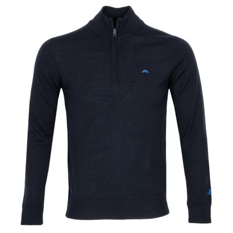 J Lindeberg Kian Zipped Sweater JL Navy AW20