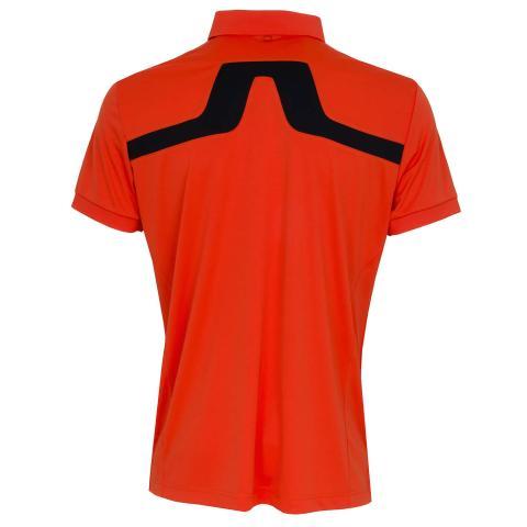 J Lindeberg KV TX Polo Shirt Tomato Red