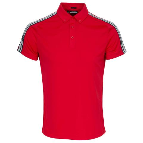 J Lindeberg Louis Polo Shirt Red Bell
