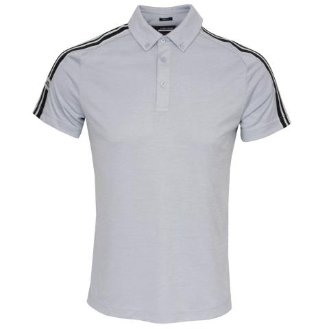 J Lindeberg Louis Polo Shirt Stone Grey Melange