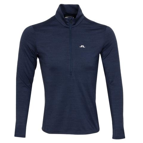 J Lindeberg Luke 1/2 Zip Mid Sweater Navy Melange