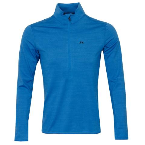 J Lindeberg Luke Zip Neck Mid Sweater Egyptian Blue