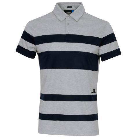 J Lindeberg Malte Club Pique Polo Shirt Stone Grey Melange