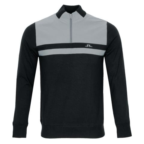 J Lindeberg Mathis Zipped Sweater Black