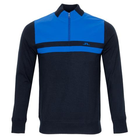 J Lindeberg Mathis Zipped Sweater Egyptian Blue