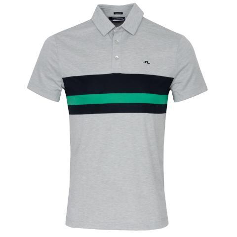 J Lindeberg Matt Polo Shirt Stone Grey Melange