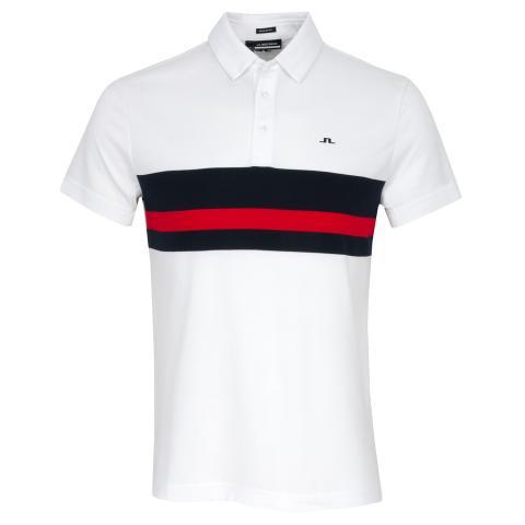 J Lindeberg Matt Polo Shirt White