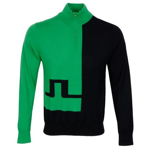 J Lindeberg Pierre Zipped Sweater Stan Green