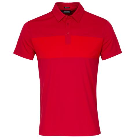 J Lindeberg Raphael Polo Shirt Red Bell