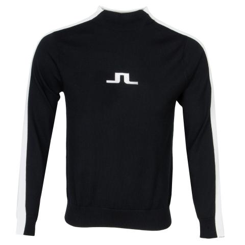 J Lindeberg Ruben Turtle Neck Sweater Black/White
