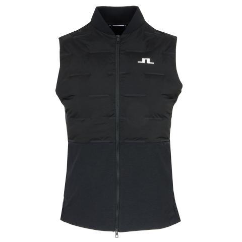J Lindeberg Shield Quilted Vest Black
