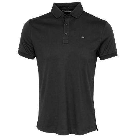 J Lindeberg Stan Polo Shirt Black