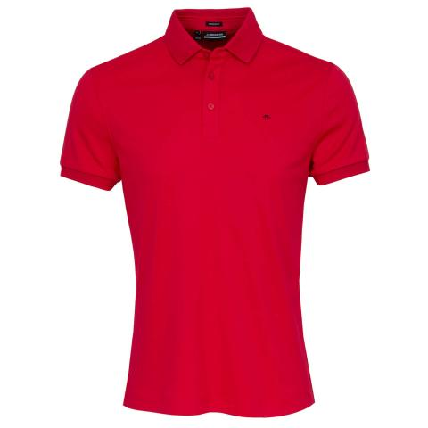 J Lindeberg Stan Polo Shirt Red Bell
