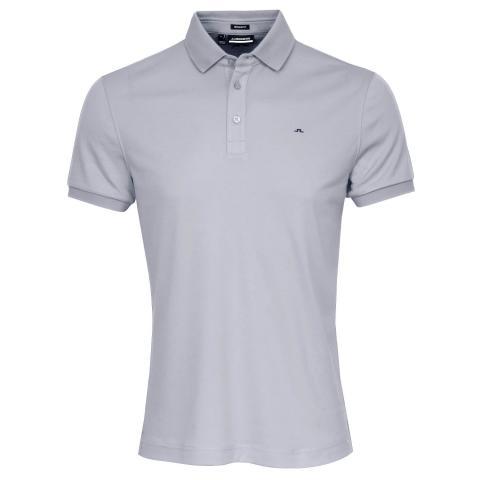 J Lindeberg Stan Polo Shirt Stone Grey Melange