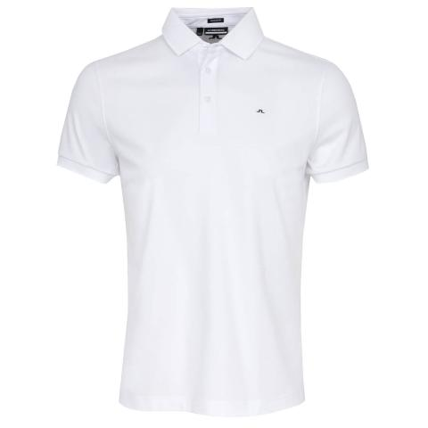 J Lindeberg Stan Polo Shirt White